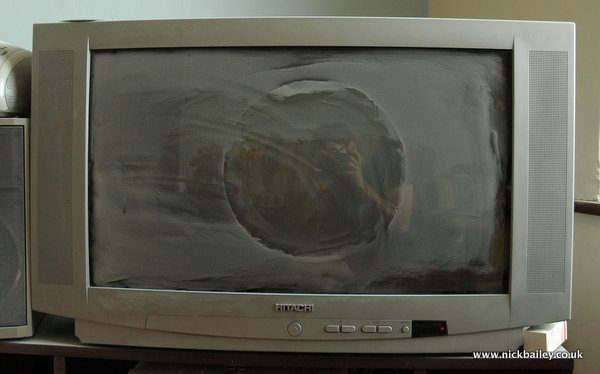 widescreen CRT with dust pattern. © Nick Bailey