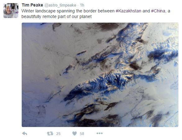 A Tweet by Tim Peake